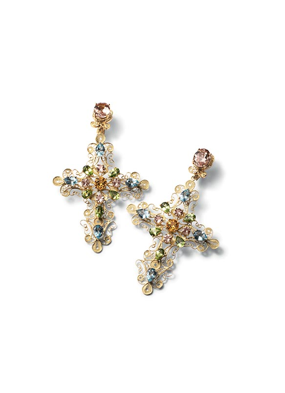 earrings cross gabbana dolce and
