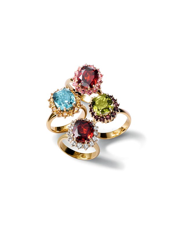d0cddca57943 Gold engagement rings with gemstones by D G Jewellery